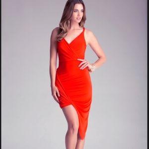 Bebe Twist Surplice Dress